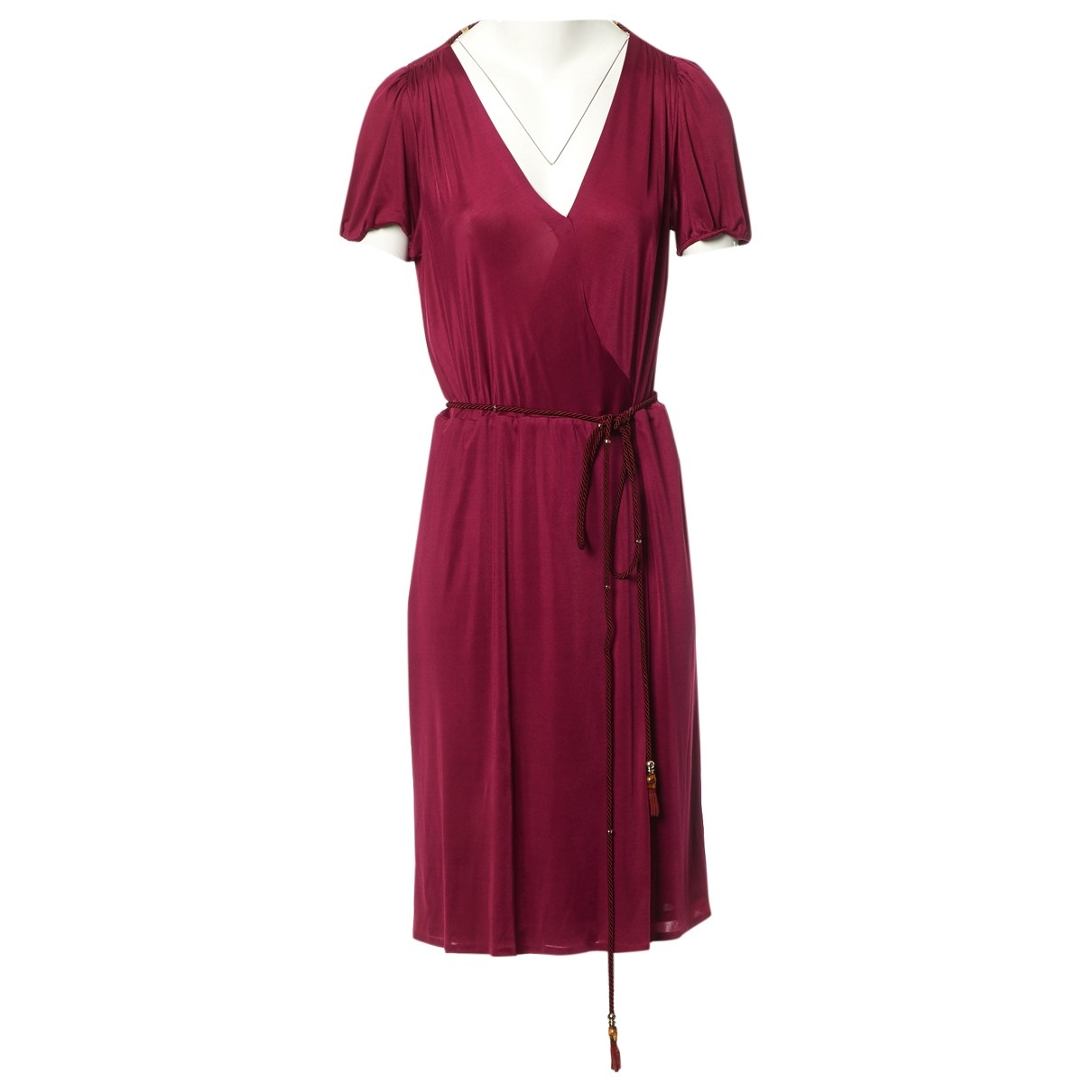 Gucci \N Kleid in  Bordeauxrot Polyester