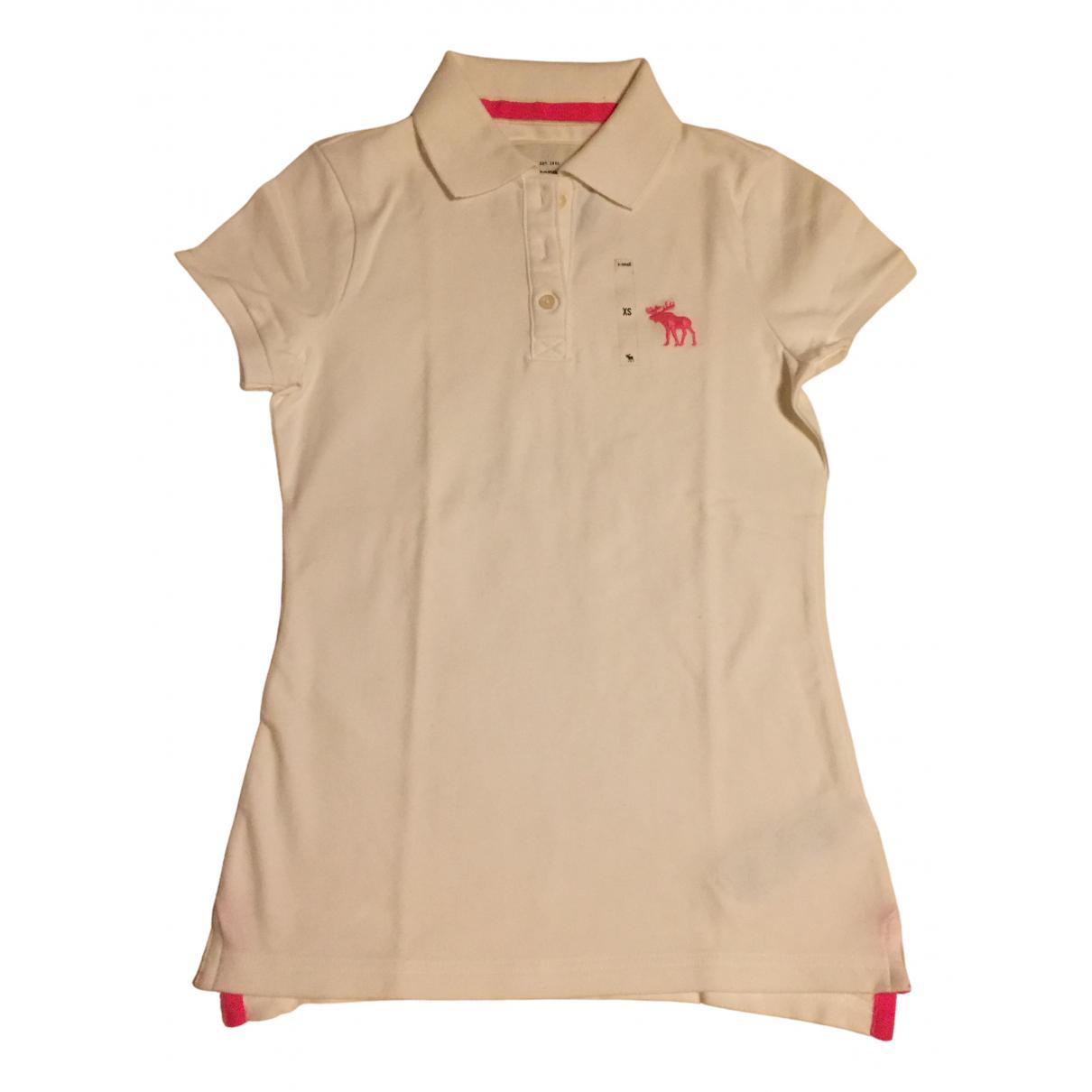 Abercrombie & Fitch - Top   pour femme en coton - blanc