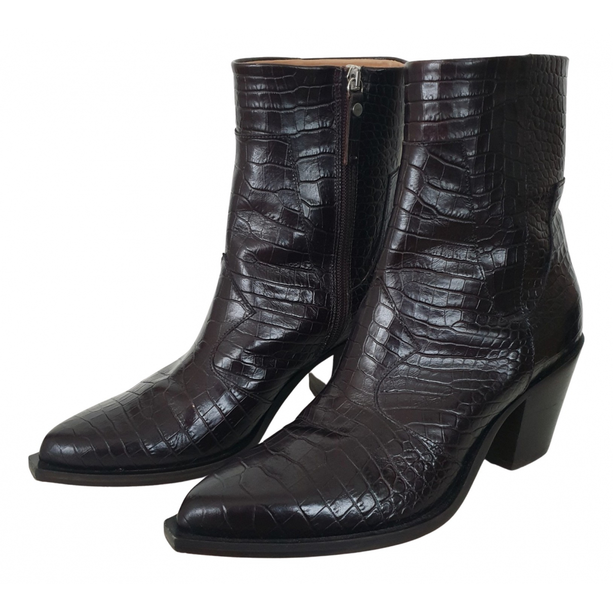 Arket - Boots   pour femme en cuir - noir