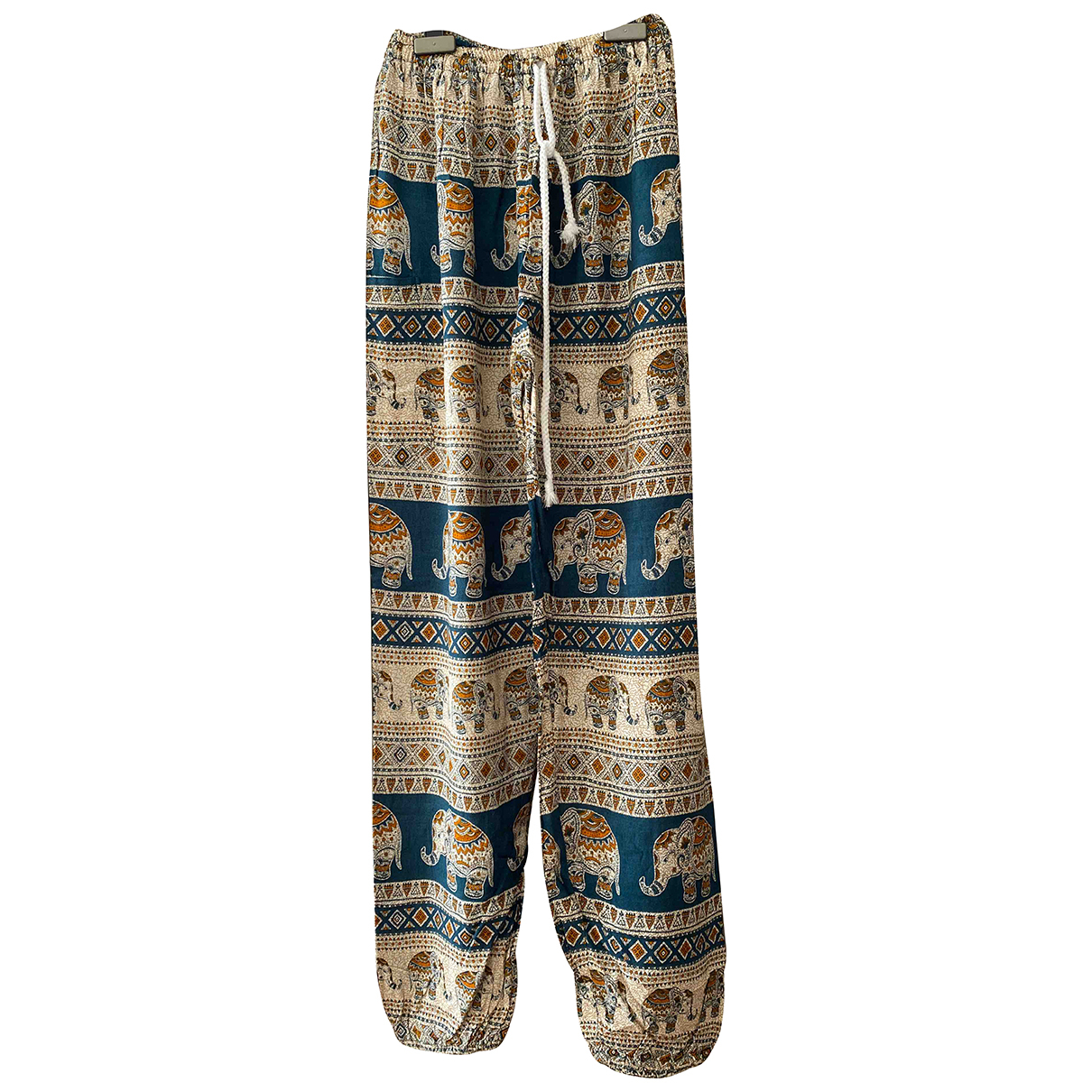 Non Signé / Unsigned \N Beige Cotton Trousers for Women S International