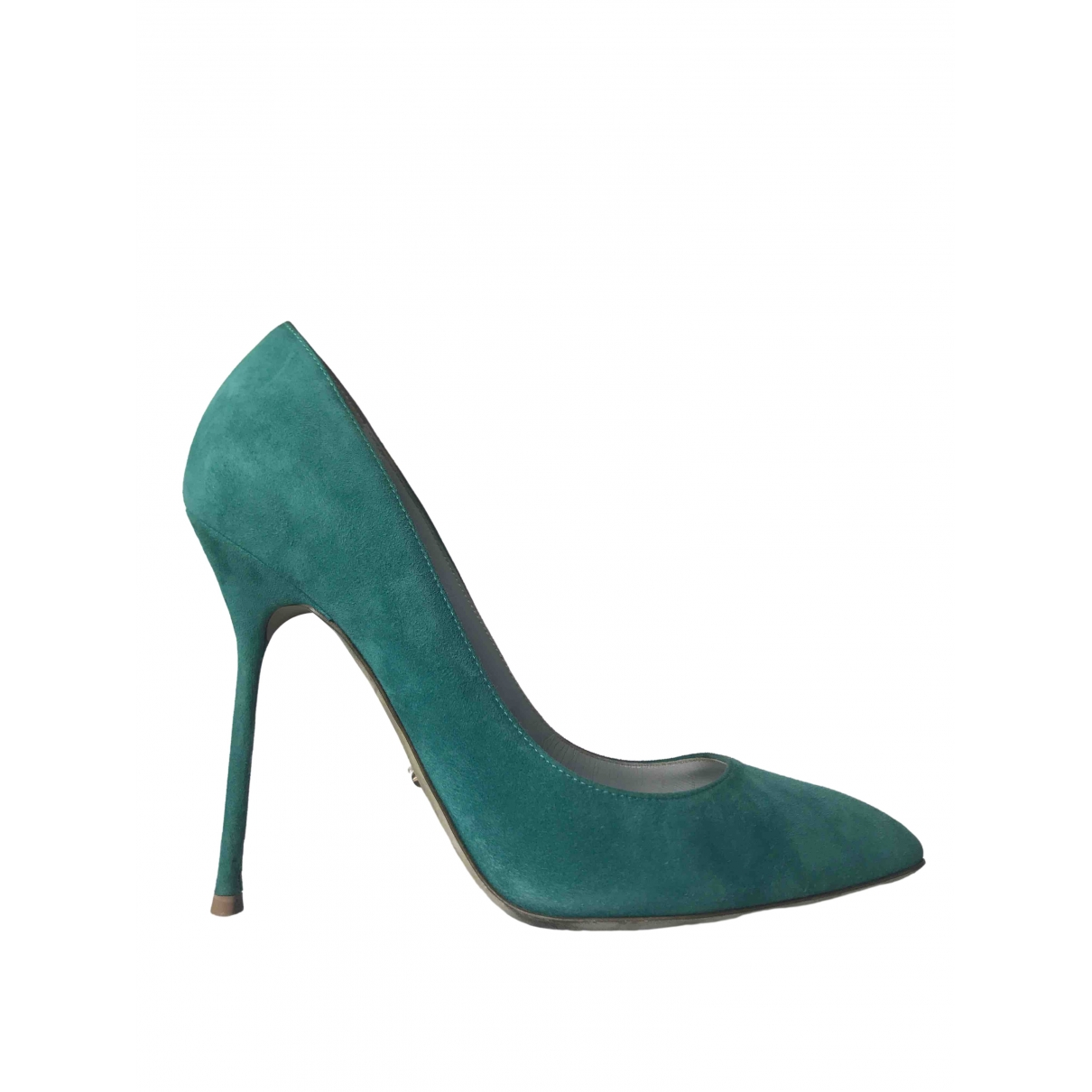 Sergio Rossi \N Green Suede Heels for Women 39 EU