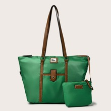 Large Capacity Tote Bag With Inner Pouch