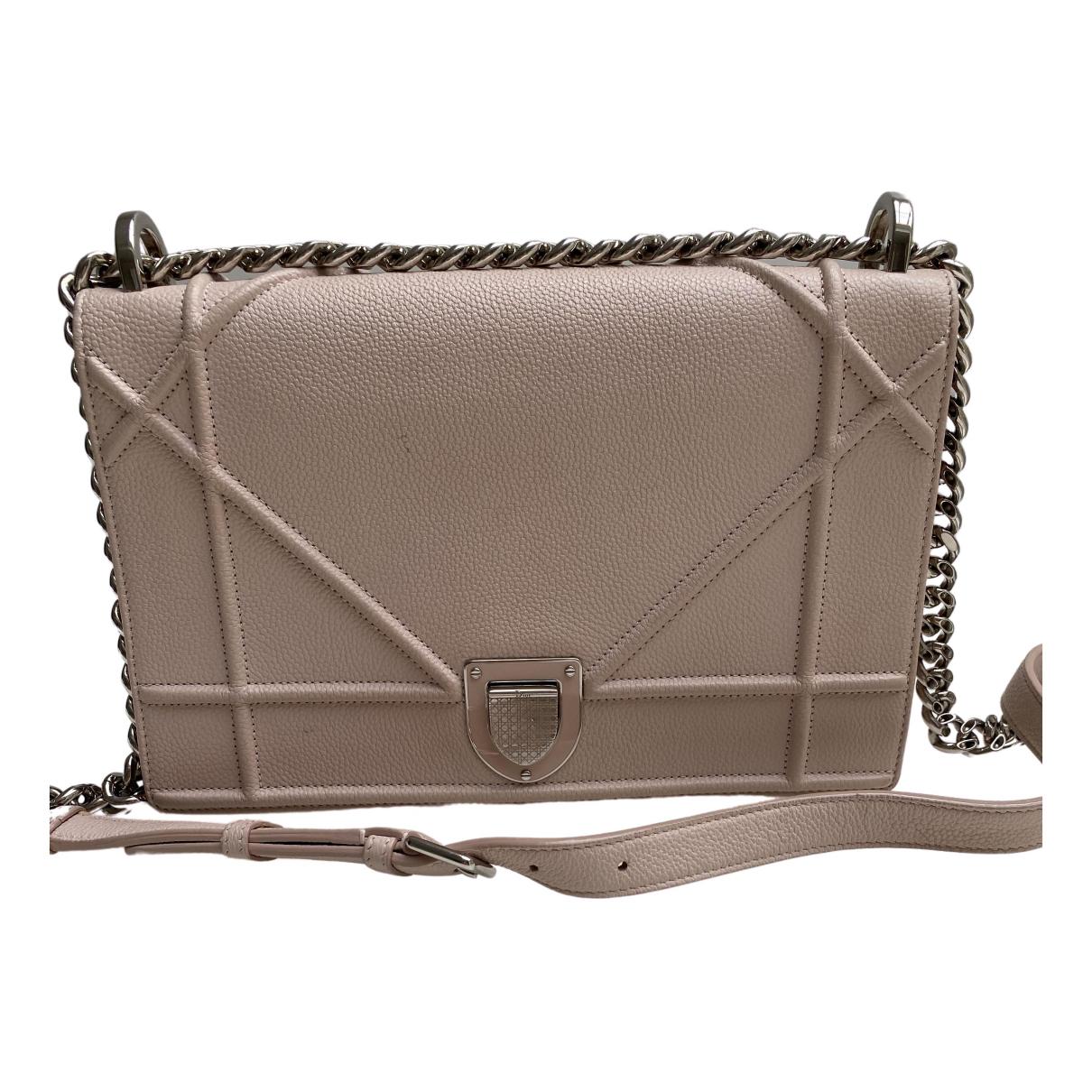 Dior Diorama Handtasche in  Rosa Leder