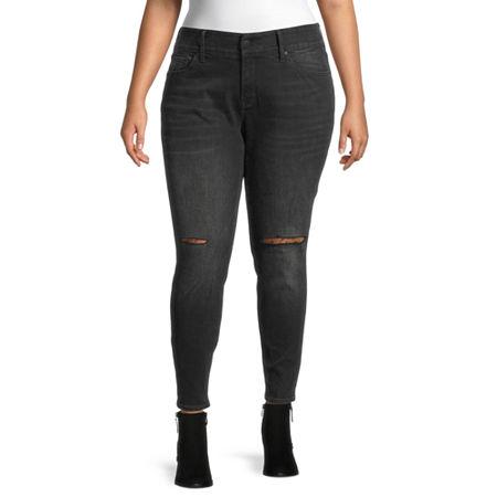 a.n.a-Plus Womens Comfort Waist Skinny Jean, 24w , Black