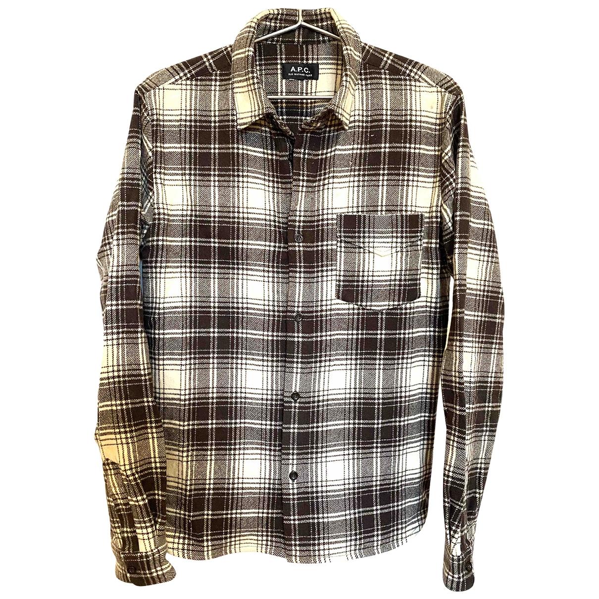 Apc \N Hemden in  Braun Wolle