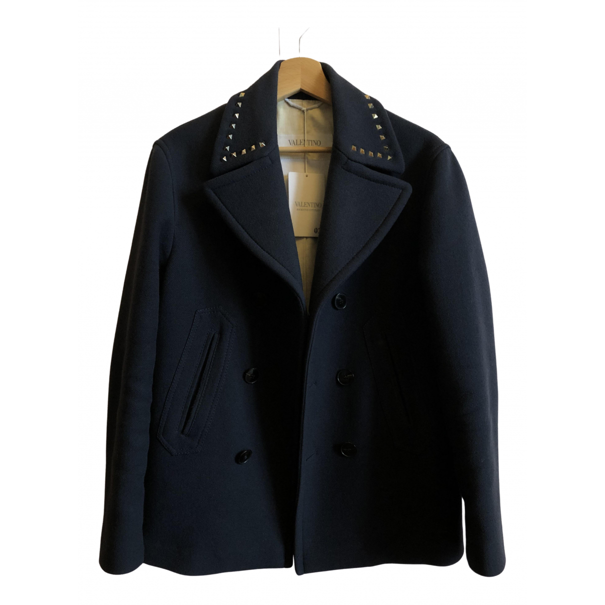 Valentino Garavani \N Blue Wool coat  for Men 46 IT