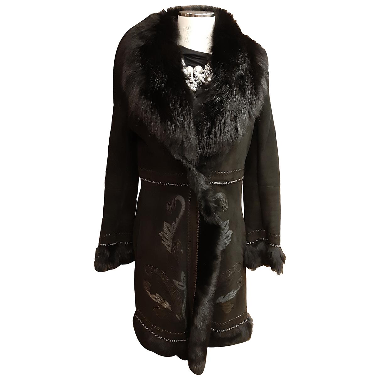 Roberto Cavalli - Manteau   pour femme en mouton - noir