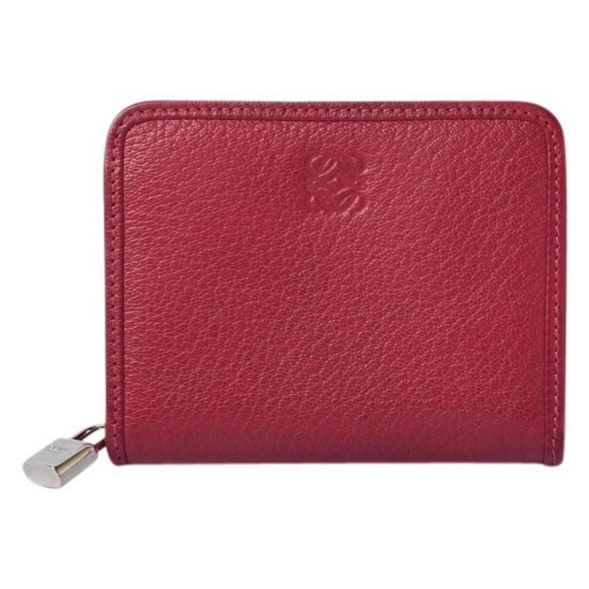 Loewe \N Portemonnaie in  Rosa Leder
