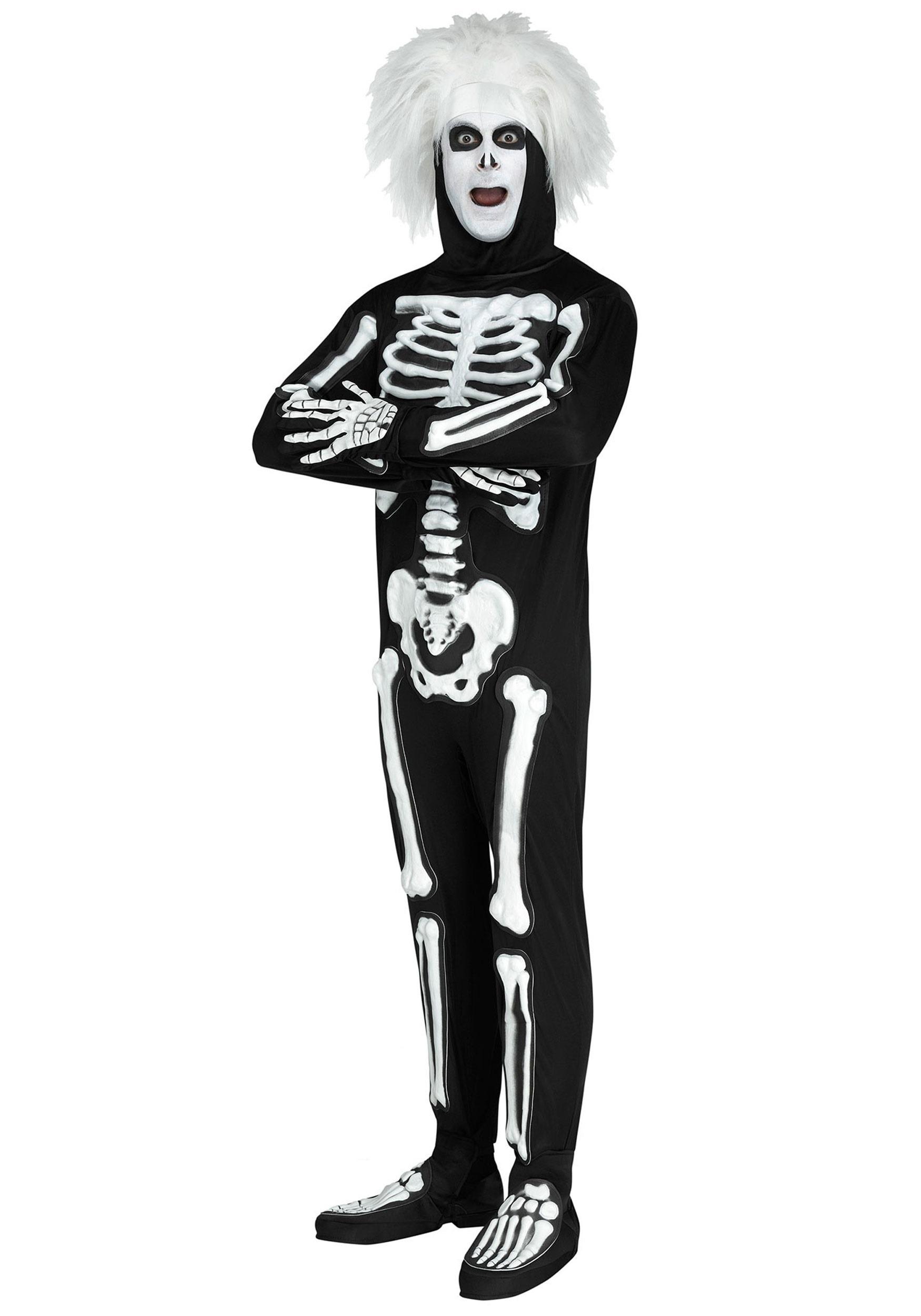 SNL Beat Boy Skeleton Costume for Men