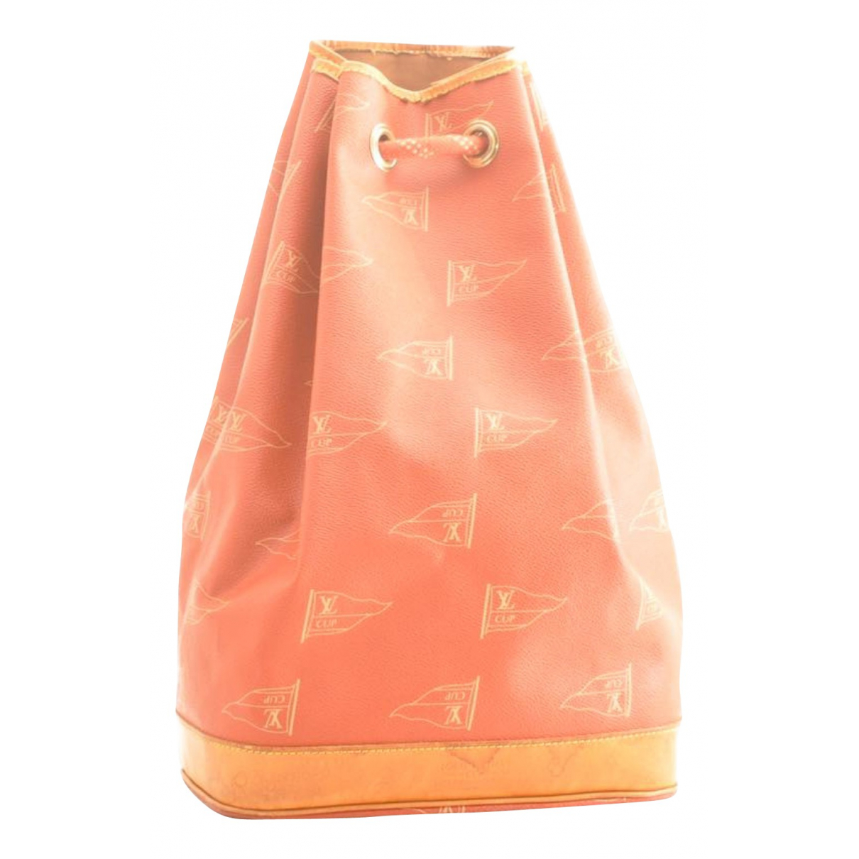 Louis Vuitton \N Handtasche in  Orange Leinen