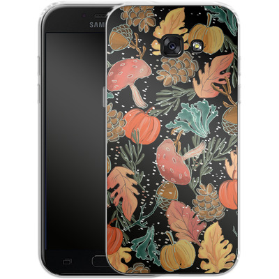 Samsung Galaxy A5 (2017) Silikon Handyhuelle - Fall Woodland Black von Mukta Lata Barua