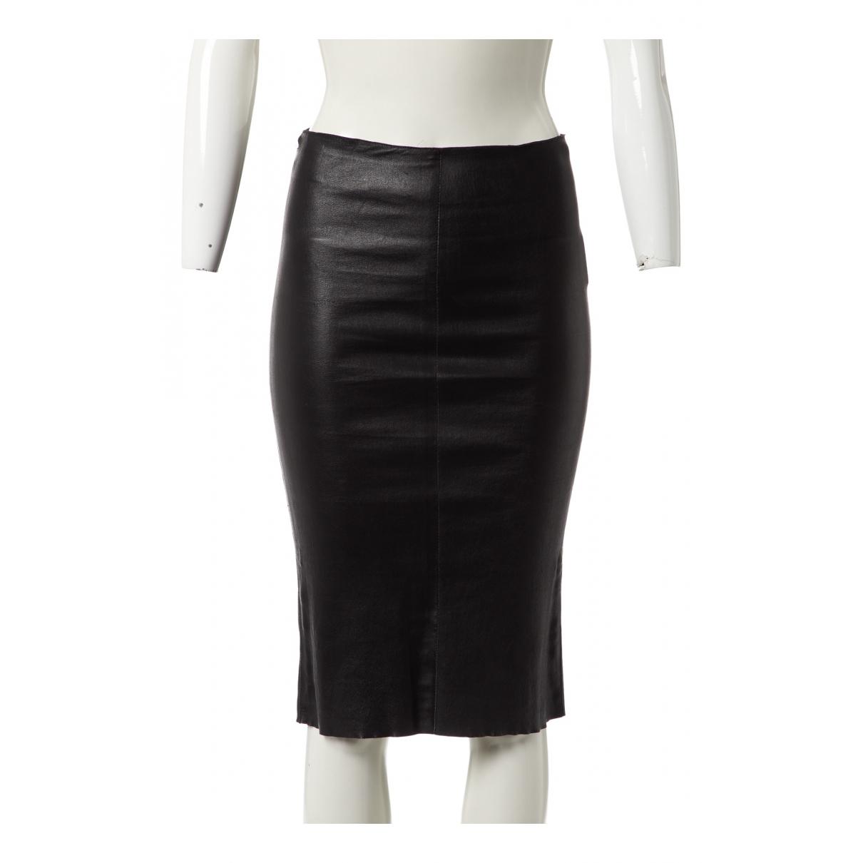 Mini falda de Cuero Jitrois