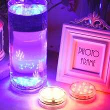 1 pieza lampara a prueba de agua de colores con control remoto