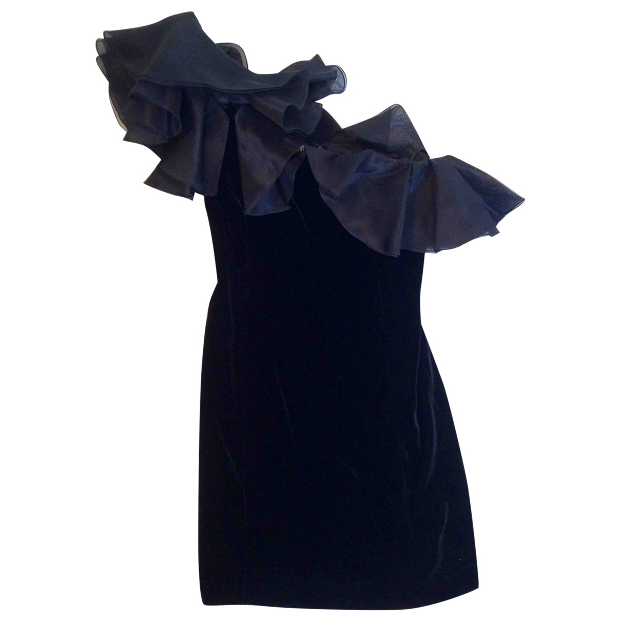 Armani Collezioni \N Black Velvet dress for Women 38 IT
