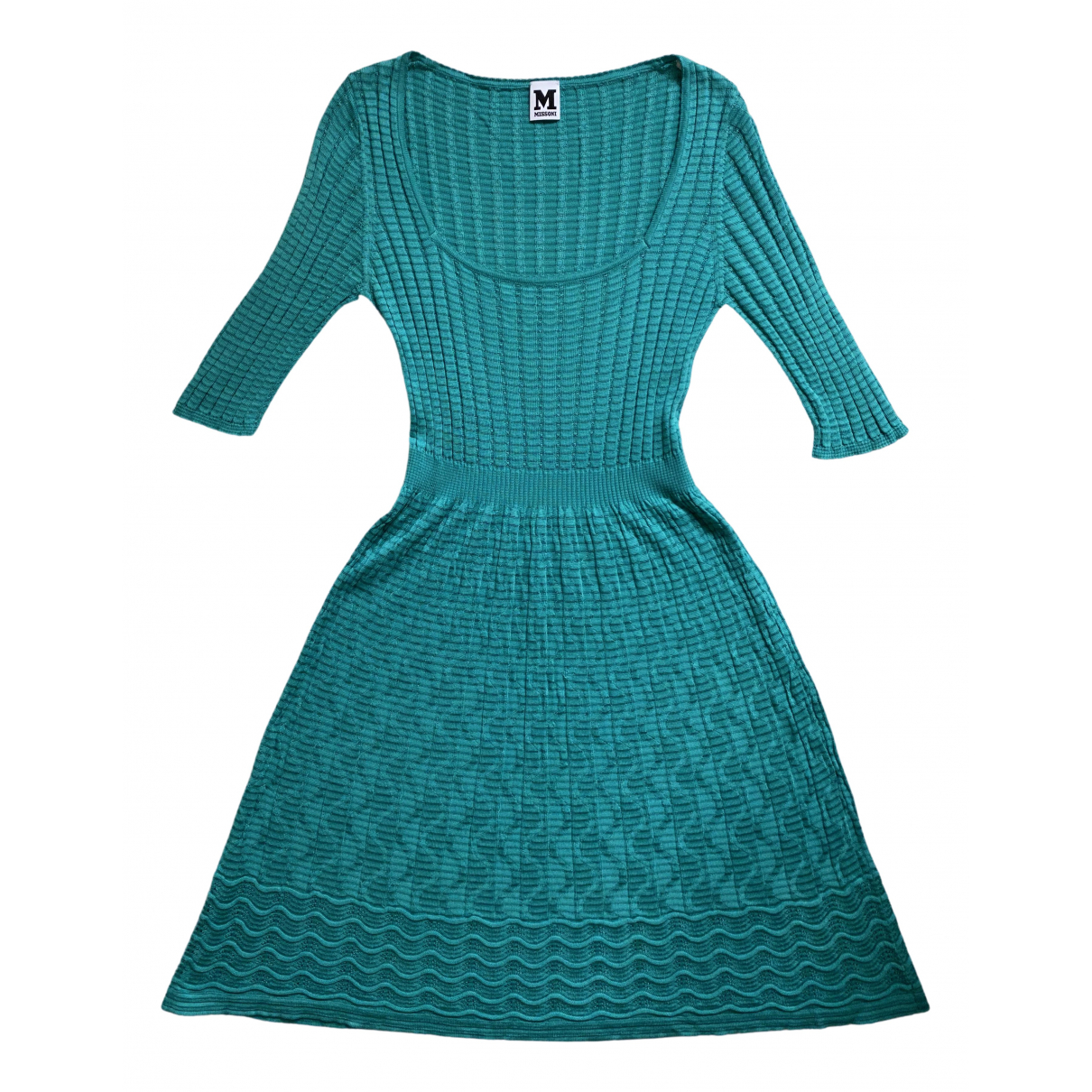 M Missoni \N Kleid in  Tuerkis Baumwolle
