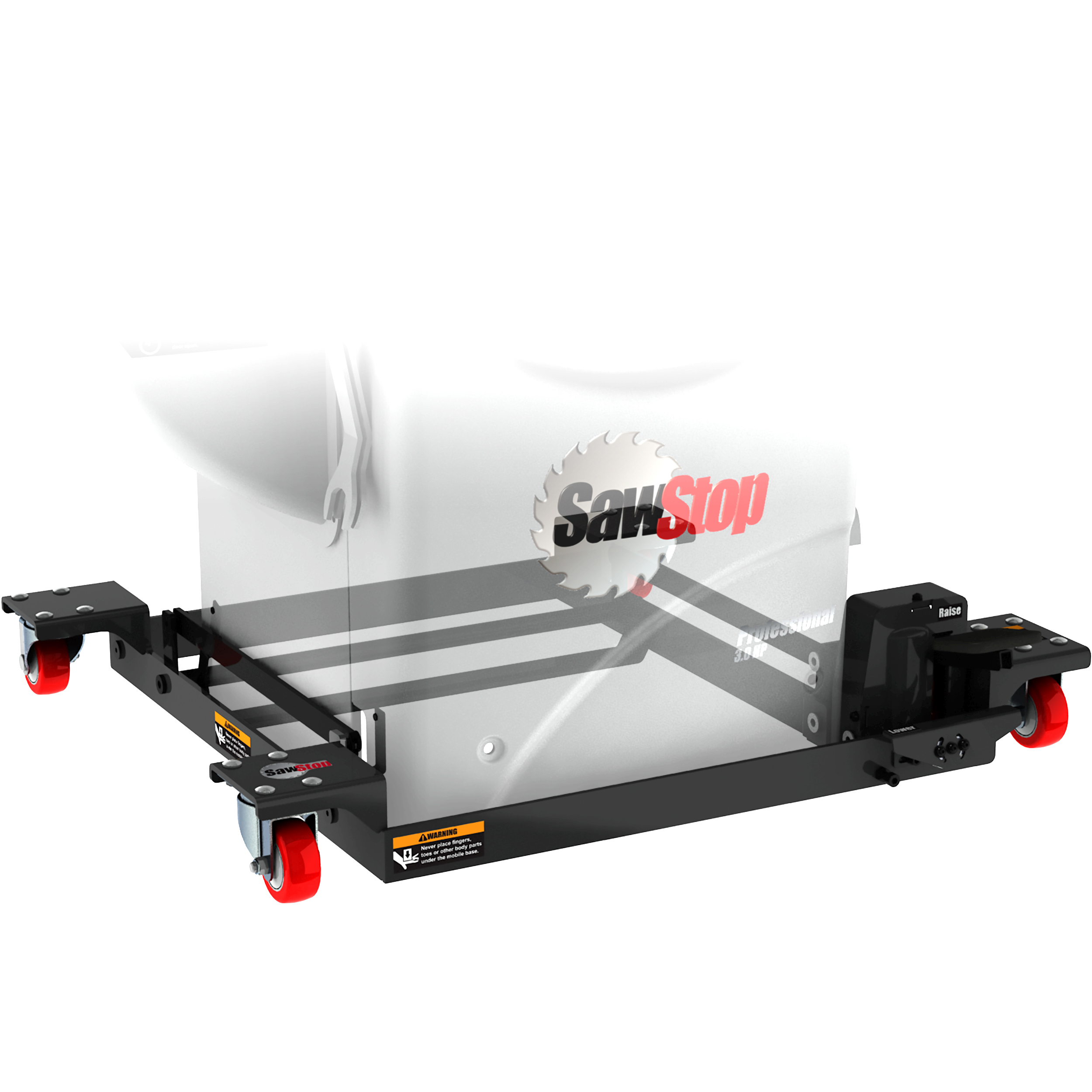 Industrial Cabinet Saw Mobile Base with PCS Conversion Kit