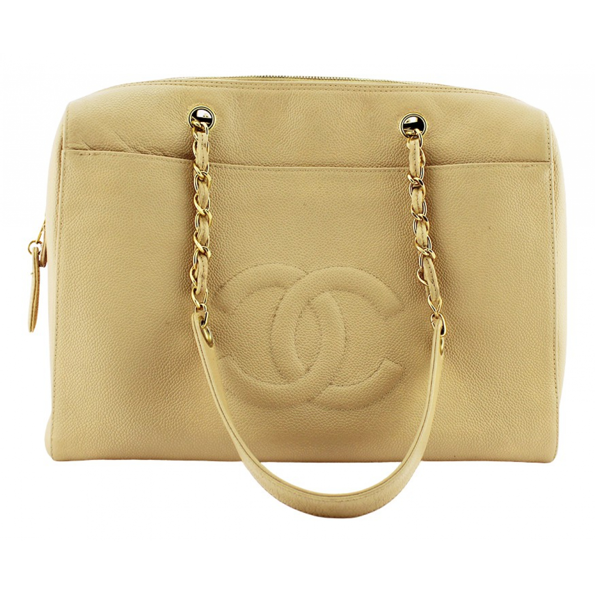 Chanel N Beige Leather handbag for Women N