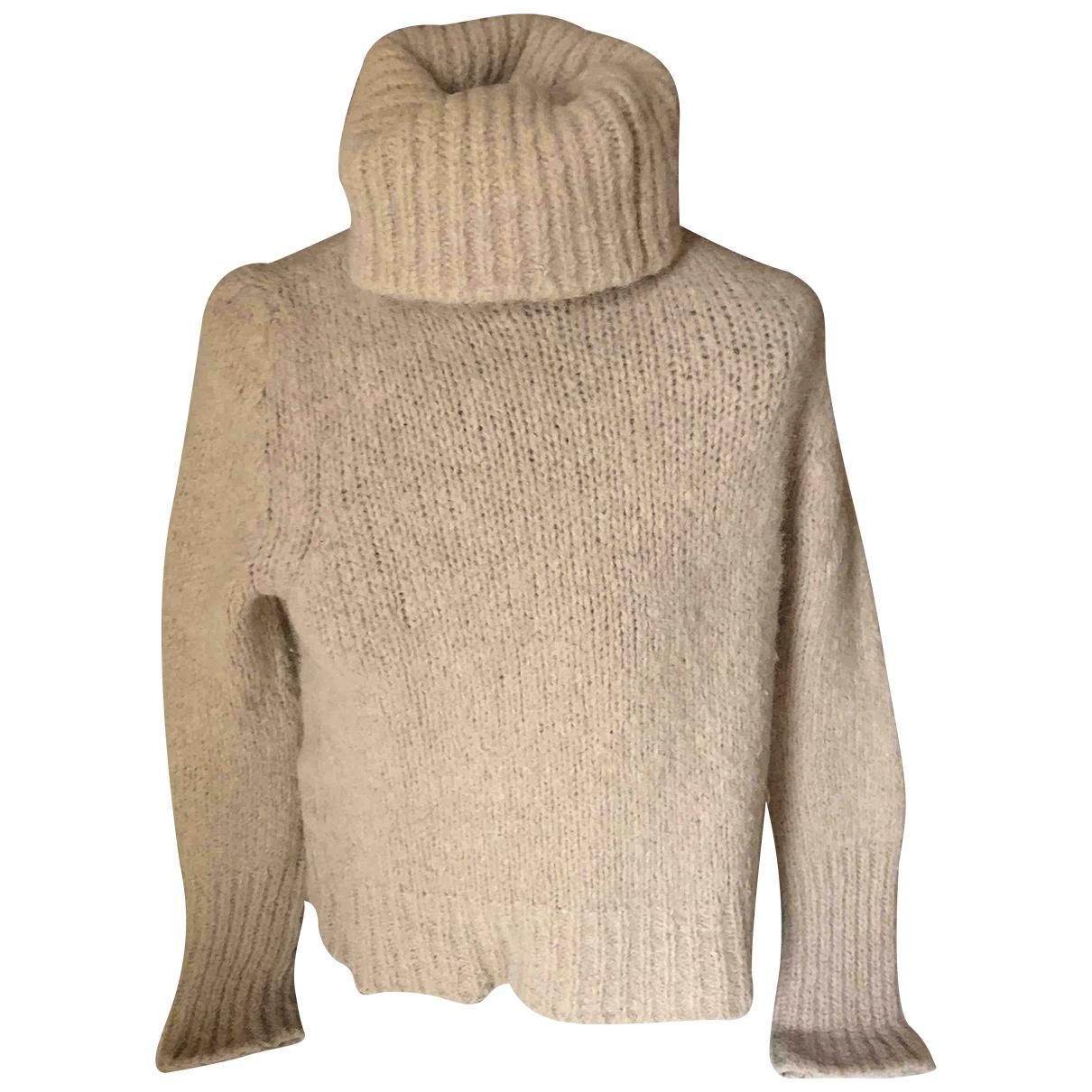 Erika Cavallini - Pull   pour femme en laine - beige