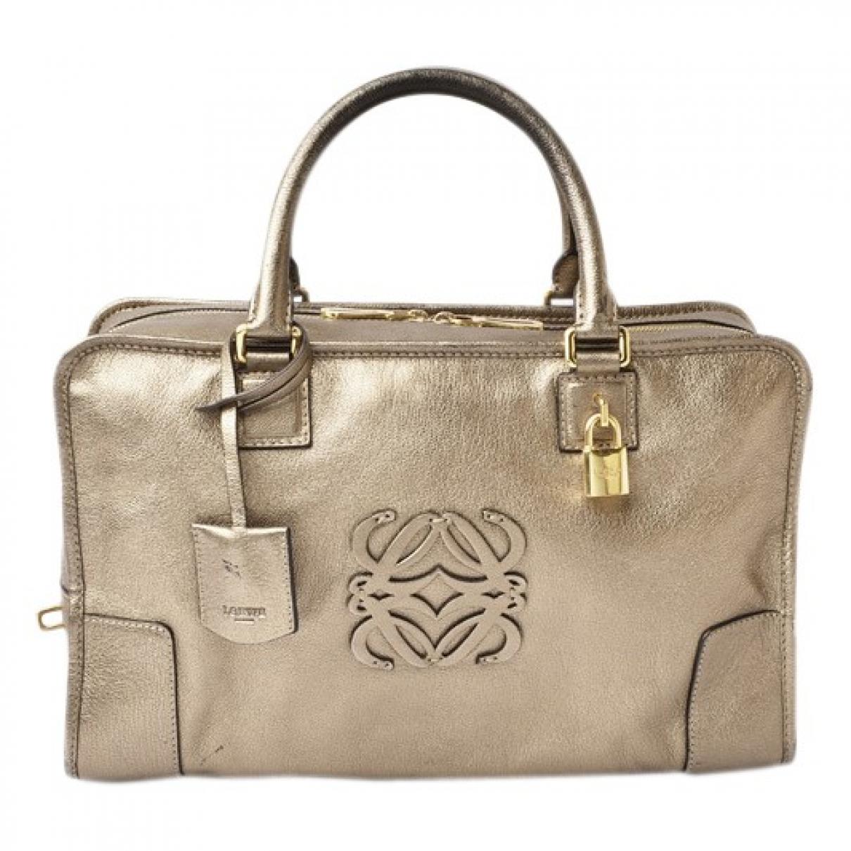 Loewe Amazona Handtasche in  Gold Leder