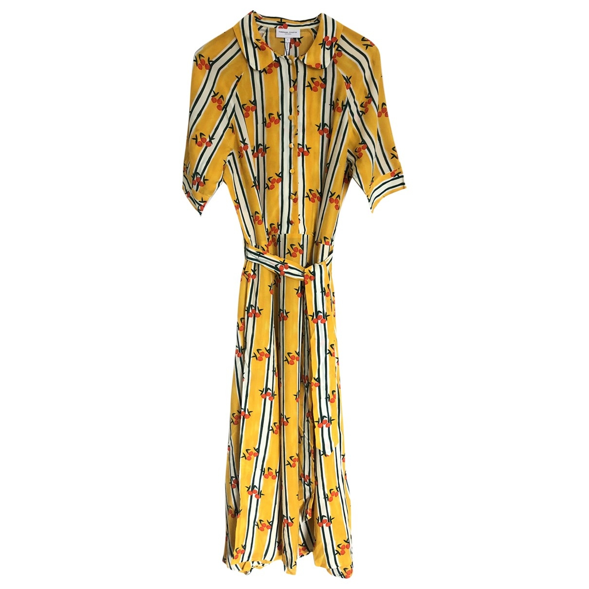 Fabienne Chapot \N Yellow Silk dress for Women S International