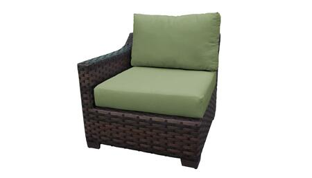 KI043b-RAS-CILANTRO Kathy Ireland Homes and Gardens River Brook Right Arm Chair - 1 Set of Truffle and 1 Set of Forest