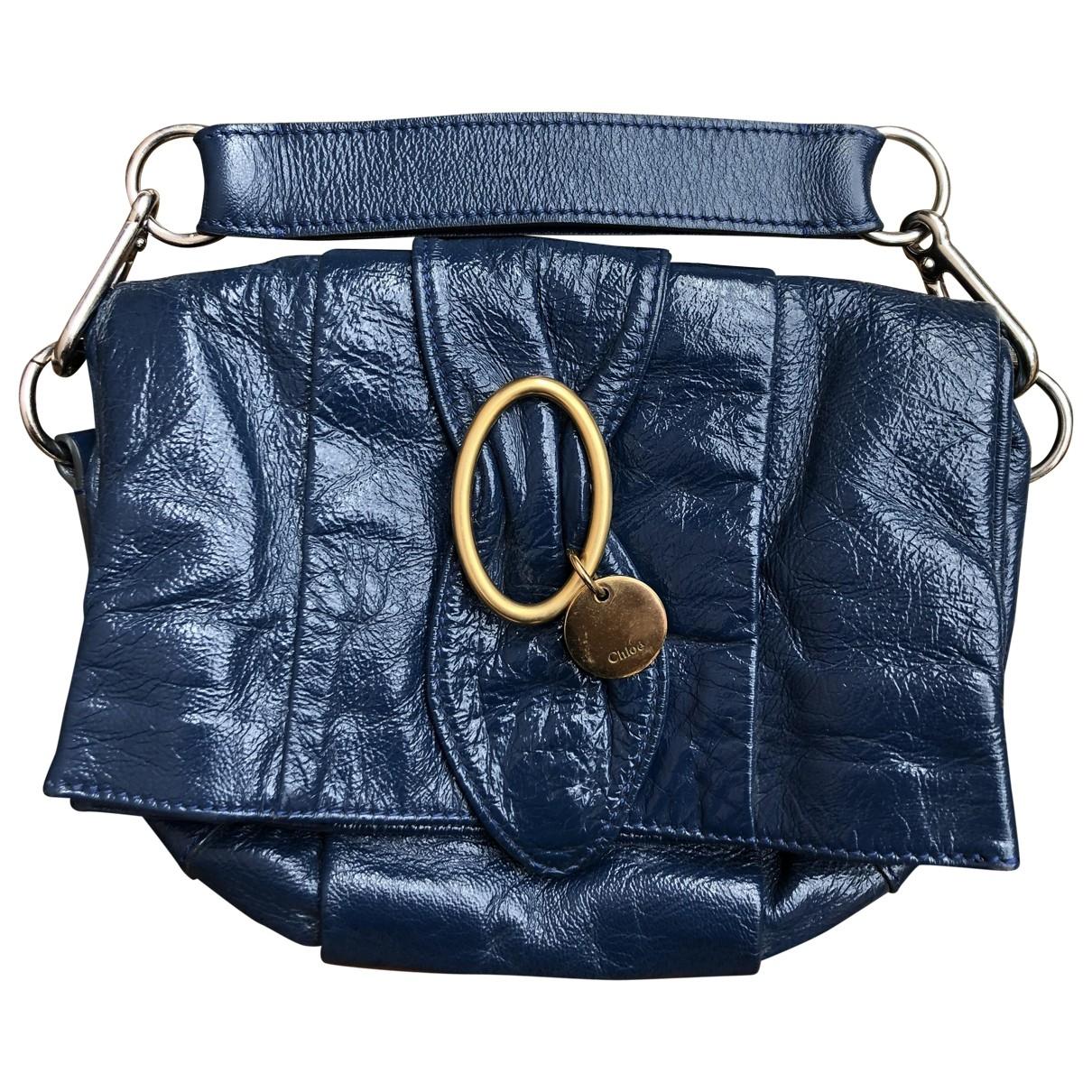 Chloe - Pochette   pour femme en cuir verni - bleu