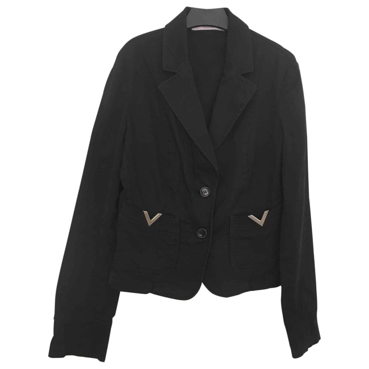 Red Valentino Garavani - Veste   pour femme en coton - noir