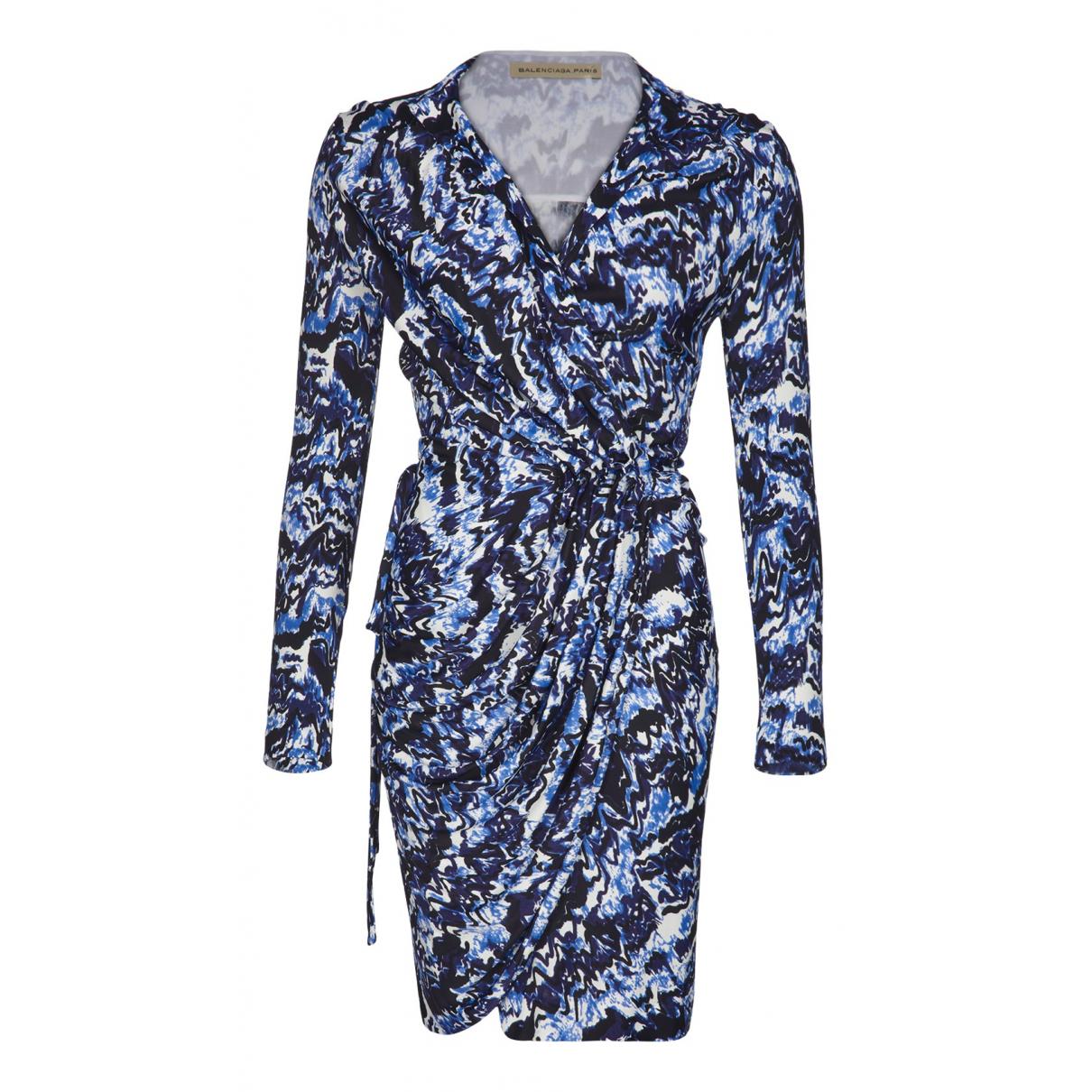 Balenciaga \N Kleid in  Blau Synthetik