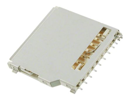 TE Connectivity 9 Way Push/Pull SD Card Memory Card Connector With Solder Termination