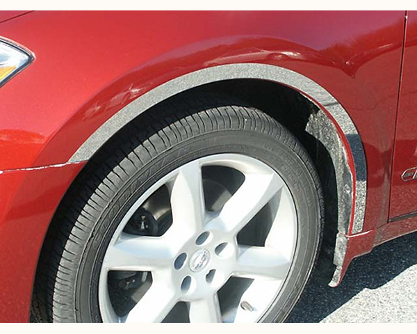 Quality Automotive Accessories 4-Piece Stainless Steel Wheel Well Fender Trim Kit Nissan Maxima 2005