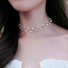 Kunstperlen verziert Zweig Halsband