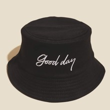 Guys Letter Embroidered Bucket Hat