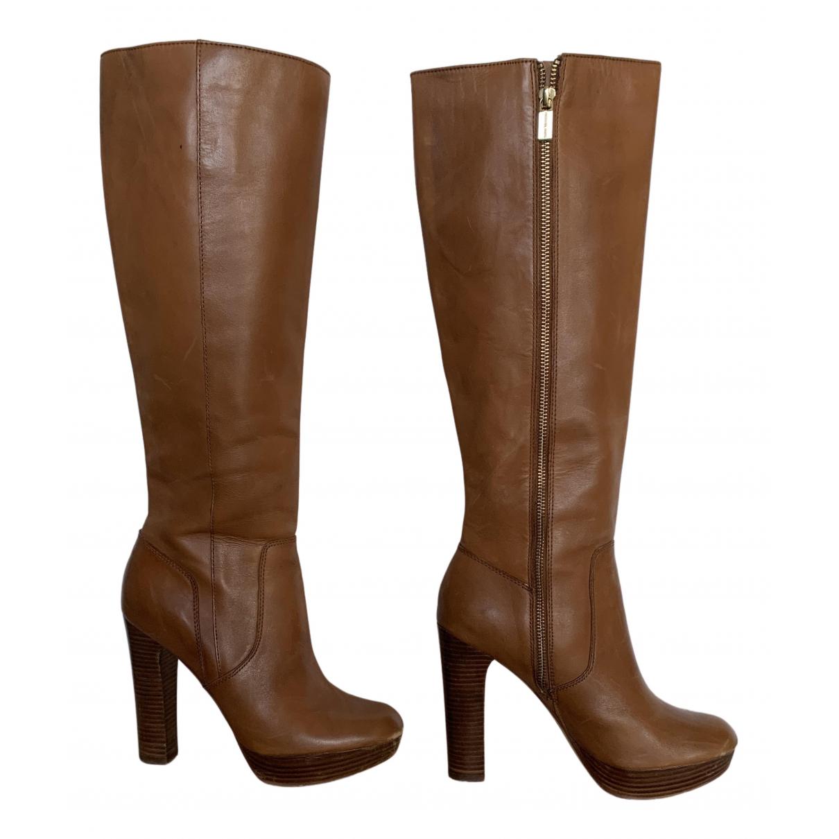Michael Kors - Bottes   pour femme en cuir - marron