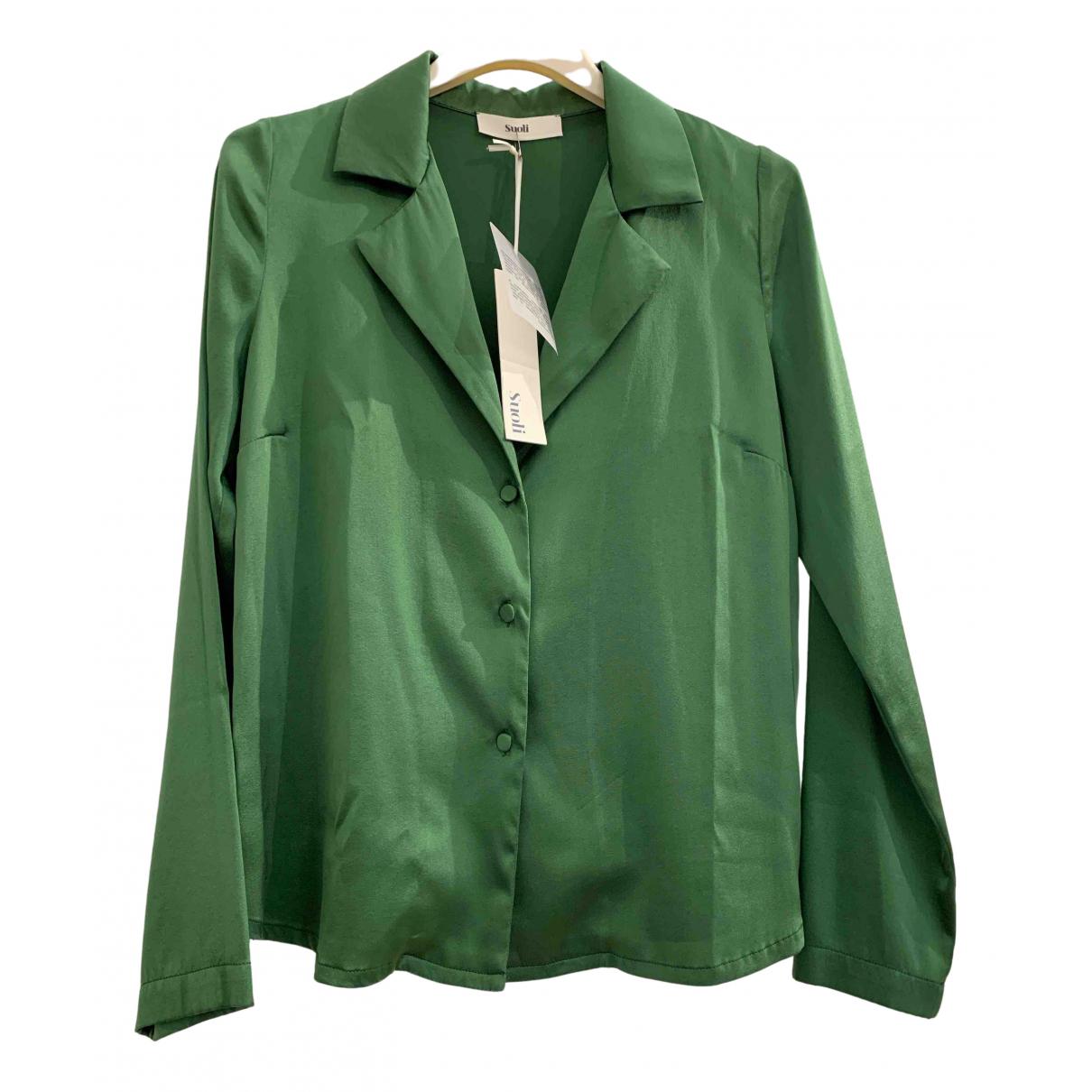 - Top   pour femme en soie - vert