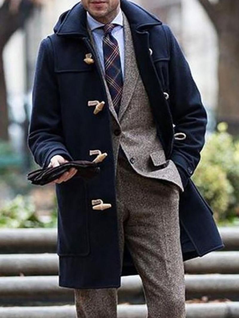 Ericdress Mid-Length Lapel Plain European Winter Coat