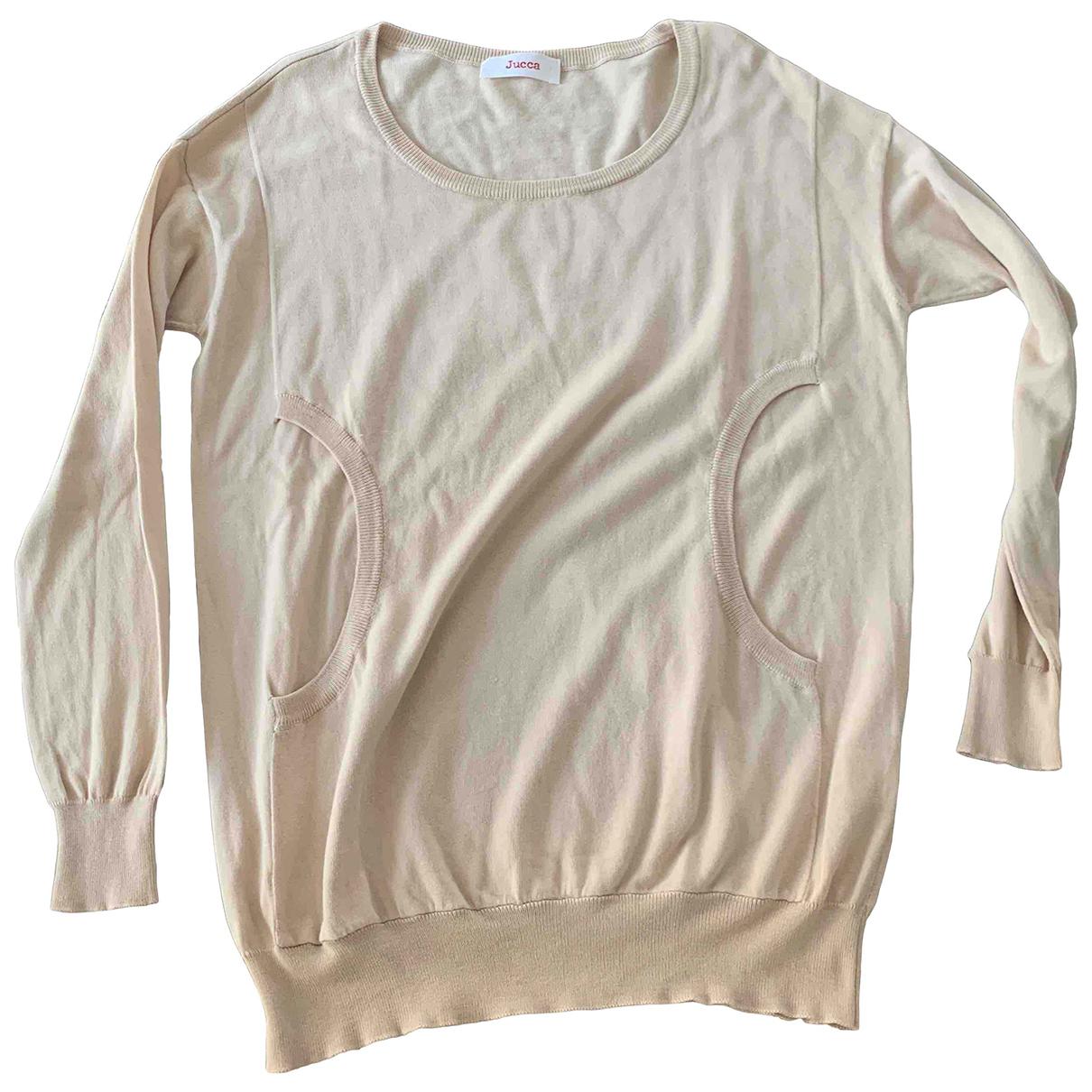 Jucca - Pull   pour femme en coton - beige