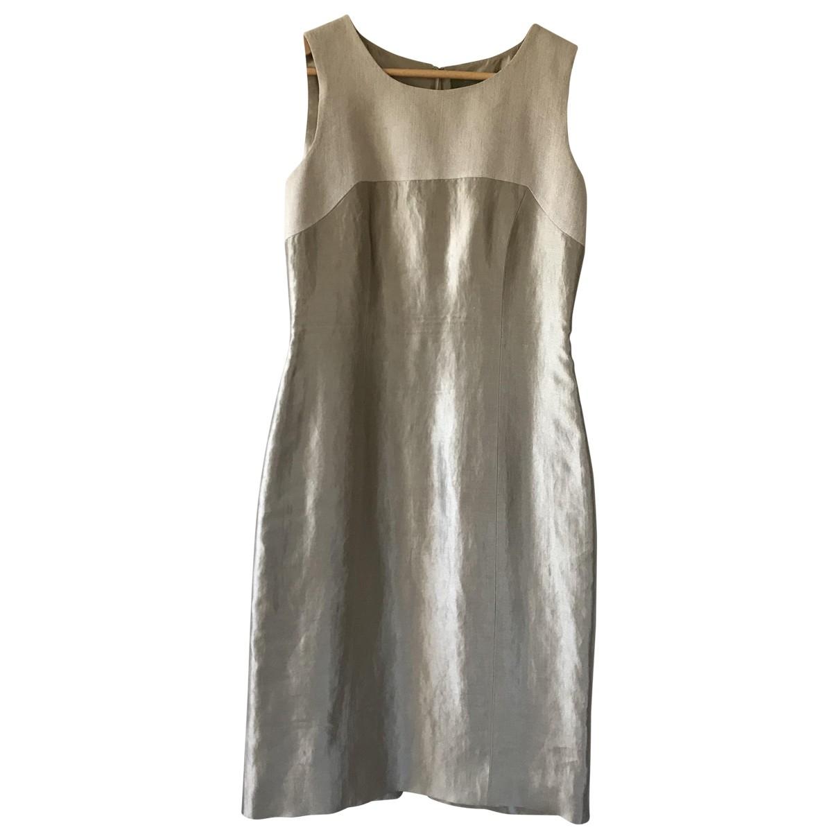Etro \N Beige Linen dress for Women 42 IT