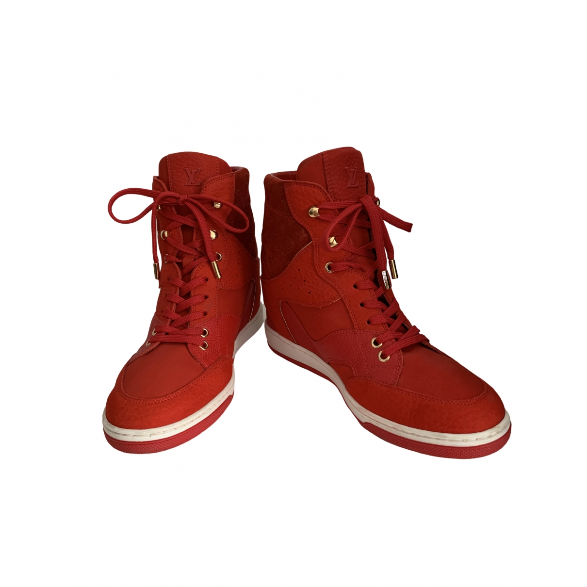 Louis Vuitton \N Red Leather Trainers for Women 39.5 EU