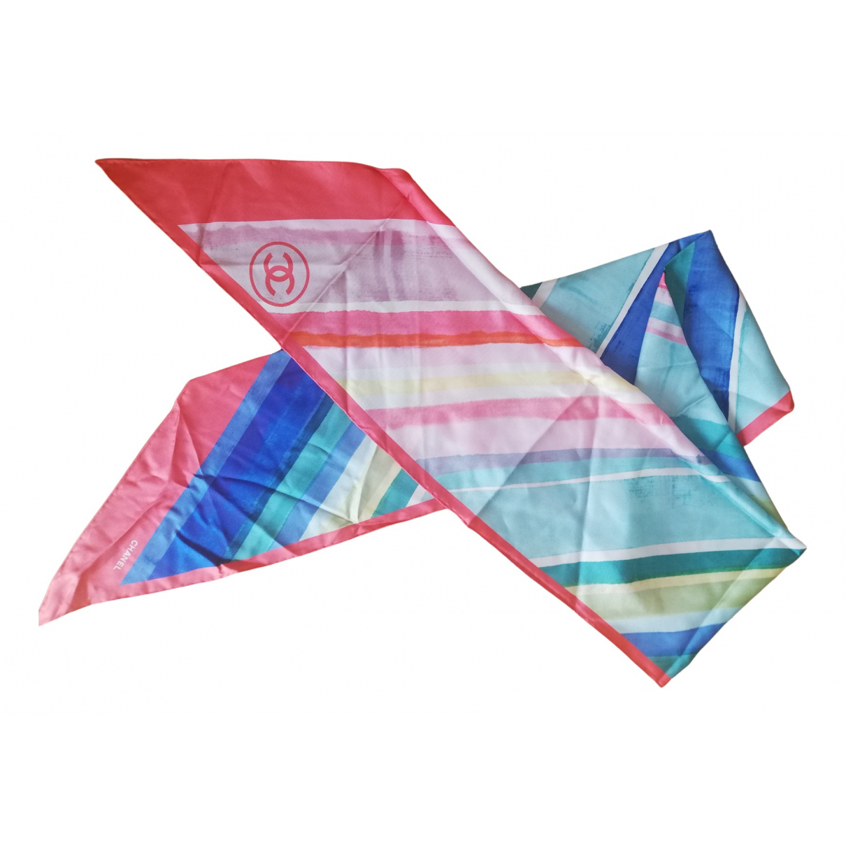 Chanel N Pink Silk scarf for Women N