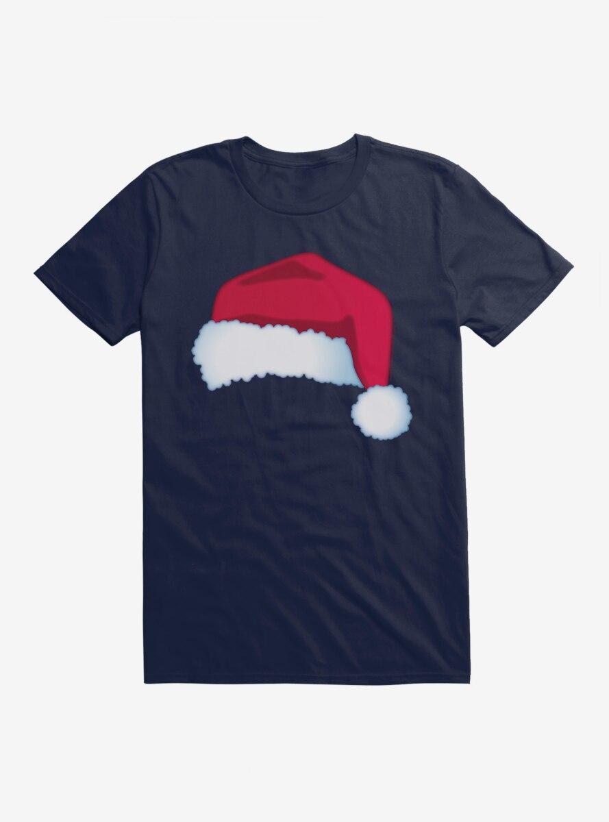 Emoji Holiday Icons Santa Hat T-Shirt