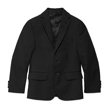 Collection By Michael Strahan Little & Big Boys Regular Fit Suit Jacket, 8 , Black
