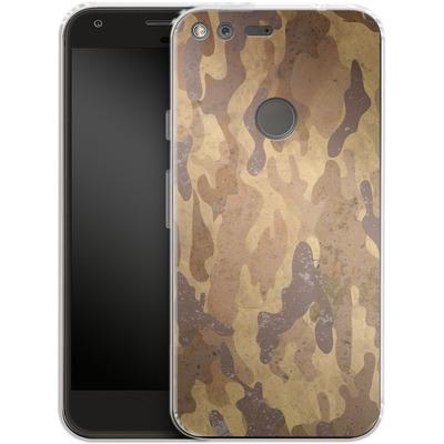 Google Pixel XL Silikon Handyhuelle - Camo Bark von caseable Designs