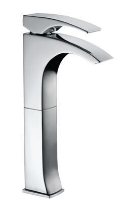 771.211.100 Designer Chrome Single Handle Lavatory Faucet with Sleek Modern