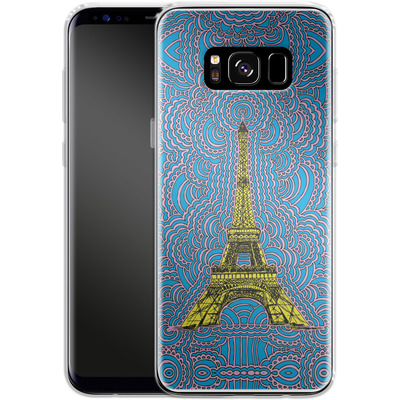 Samsung Galaxy S8 Silikon Handyhuelle - Eiffel Tower von Kaitlyn Parker