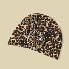 1 Stueck Turban Hut mit Leopard Muster