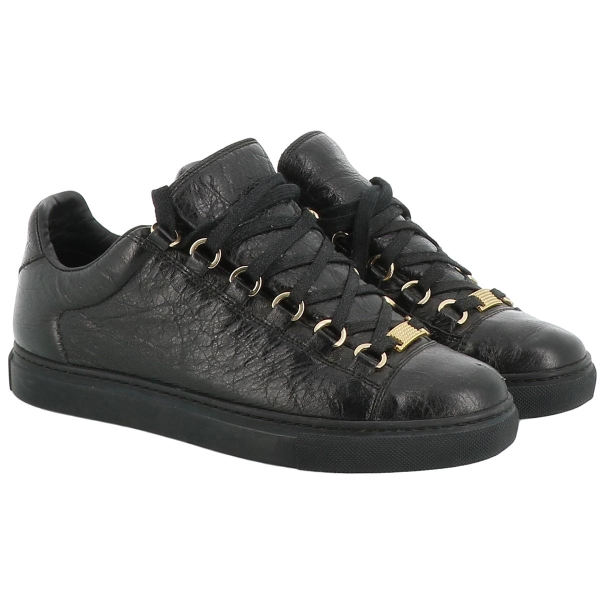 Balenciaga \N Black Leather Trainers for Women 37 EU