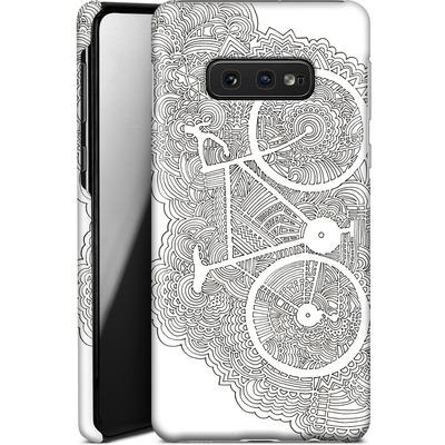 Samsung Galaxy S10e Smartphone Huelle - Bike Drawing Meditation von Kaitlyn Parker