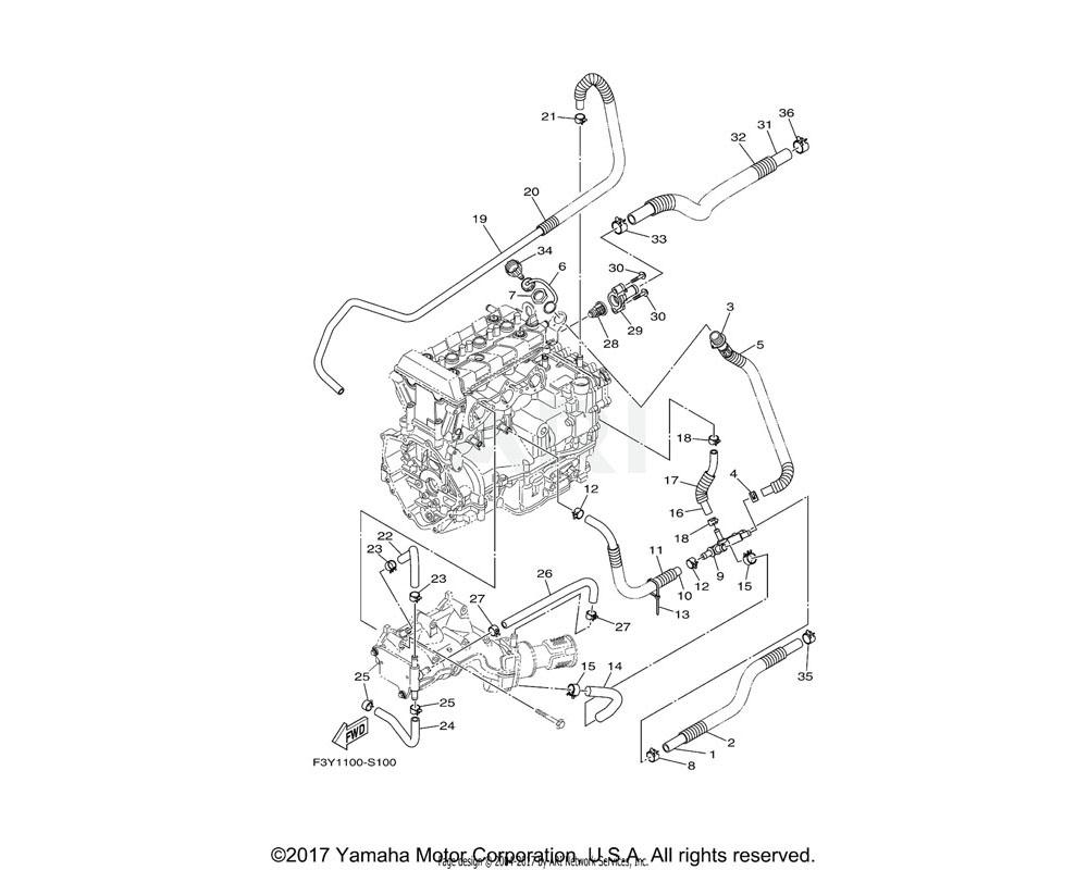 Yamaha OEM 90447-22015-00 TUBE (L410)