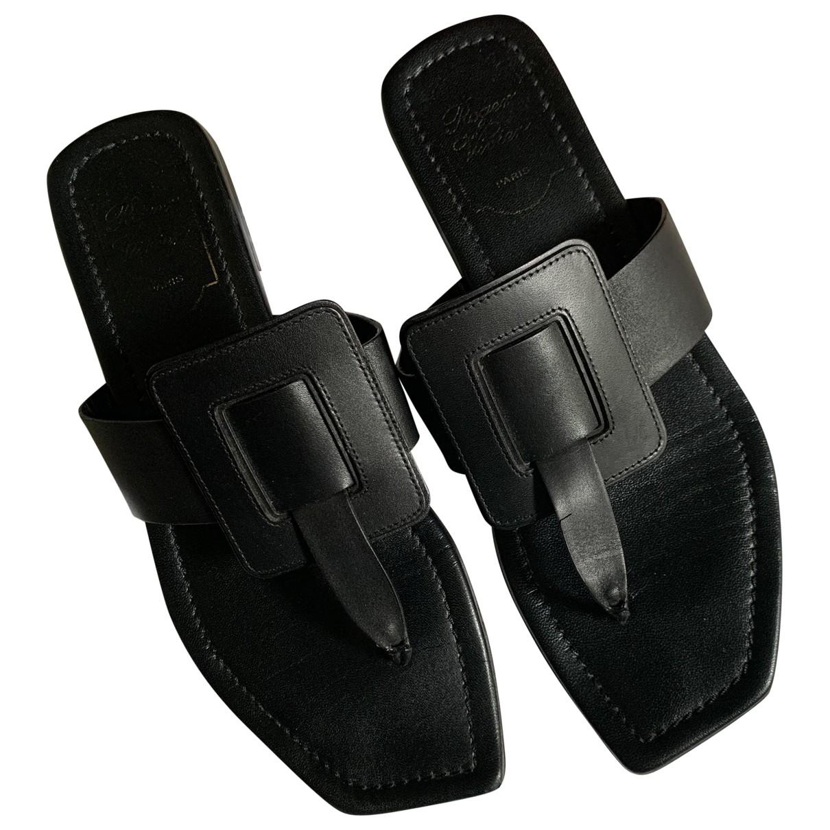 Roger Vivier \N Black Leather Sandals for Women 38.5 EU