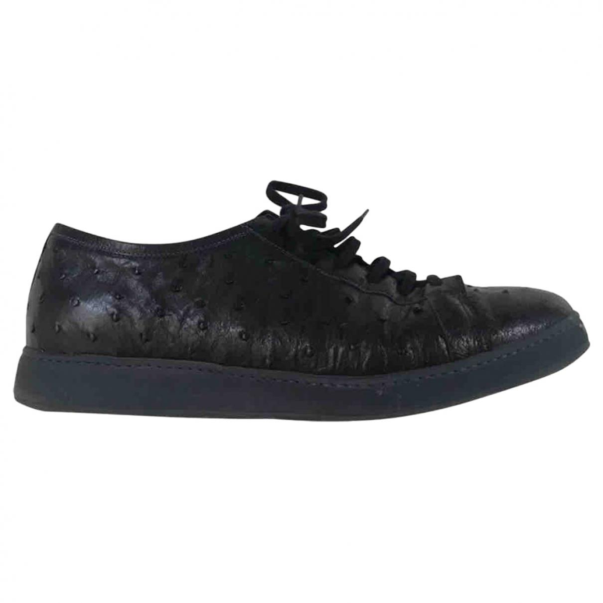 Santoni \N Sneakers in  Blau Vogelstrauss